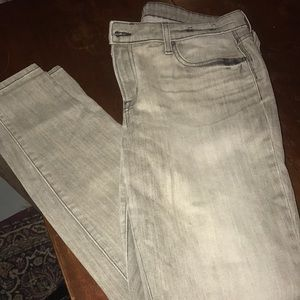 Gray washed skinny jeans